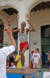 ¡ N de Isbel MiliÃ, vencedor da maratona, Havana 2005 Imagens de Stock Royalty Free