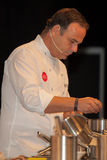 ³ n de Leà del ngel del  del cocinero à Una estrella Michelin Fotografía de archivo libre de regalías