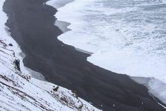 ³ n del rlà del ¡ di JökursÃ: la spiaggia di icerber, di ghiaccio e di freddo Fotografie Stock Libere da Diritti