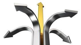 De pijlen van het metaal Stock Afbeeldingen