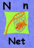 N está para la red Aprenda el alfabeto y el deletreo stock de ilustración