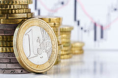 Één euro. Royalty-vrije Stock Foto