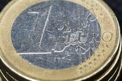 ??n Euro muntstuk royalty-vrije stock foto
