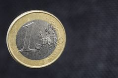 ??n Euro muntstuk stock afbeelding