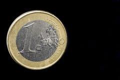 ??n Euro muntstuk stock fotografie