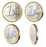 Één Euro Muntstuk Royalty-vrije Stock Fotografie