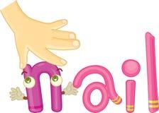 N für Nagel Stockbild