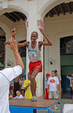 ¡ N, gagnant de marathon, La Havane 2005 d'Isbel Milià Images libres de droits