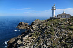 ¡ N, GalÃcia Faros de Cabo Touriñà Lizenzfreie Stockfotos