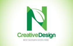N Green Leaf Letter Design Logo. Eco Bio Leaf Letter Icon Illustration Logo. N Green Leaf Letter Design Logo. Eco Bio Leaf Letters Icon Illustration Vetor Logo stock illustration