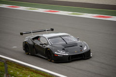 ¡ N GT3 2016 de Lamborghini Huracà de sport mécanique d'Antonelli à Monza Photo libre de droits