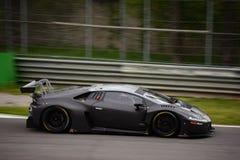 ¡ N GT3 2016 de Lamborghini Huracà de sport mécanique d'Antonelli à Monza Photographie stock