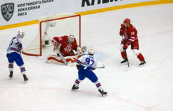 N. Gusev (97) attack Stock Images