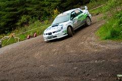 N. Henry driving Subaru Impreza Stock Image