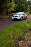 N. Henry driving Subaru Impreza Royalty Free Stock Image