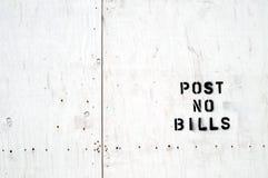 N'inscrivez aucune facture estampée sur le vaneer Images libres de droits