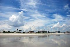 N la playa Foto de archivo libre de regalías
