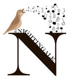 N (nightingale) Royalty Free Stock Photo