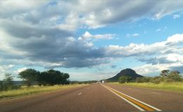N1 one way to Limpopo. South African beauty Royalty Free Stock Images