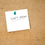 «n'oubliez pas» la liste Photo stock