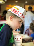 In N Out burger dinner Royalty Free Stock Photo