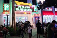 In-N-Out Burger at the Linq in Las Vegas. Royalty Free Stock Image