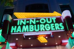 In-N-Out Burger at the Linq in Las Vegas. Stock Photos
