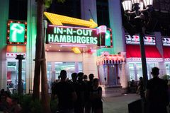 In-N-Out Burger at the Linq in Las Vegas. Stock Photography