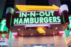 In-N-Out Burger at the Linq in Las Vegas. Stock Images
