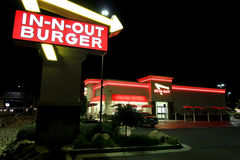 In-N-Out at night Royalty Free Stock Images