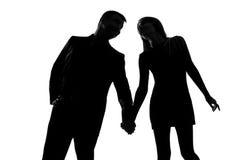 Één paarman en vrouw hand in hand Stock Afbeeldingen