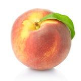 Één perzikfruit Royalty-vrije Stock Afbeeldingen