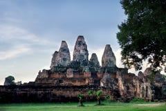 N Phnom seaham-Rijpe Bakheng, Kambodja Stock Fotografie