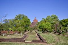 N pielgrzymki miejsce stary królewski miasto Anuradhapura na tropikalnej wyspie Sri Lanka Obrazy Stock