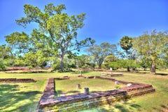 N pielgrzymki miejsce stary królewski miasto Anuradhapura na tropikalnej wyspie Sri Lanka Zdjęcie Royalty Free