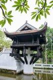 Één Pijlerpagode in Hanoi, Vietnam Royalty-vrije Stock Fotografie