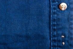 n?r du bekl?r objekt stonewashed textur f?r bomullstyg med s?mmar, omfamningar, knappar och nitar, makro fotografering för bildbyråer