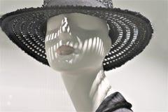 N?rbild av ett plast- skyltdockahuvud royaltyfria foton