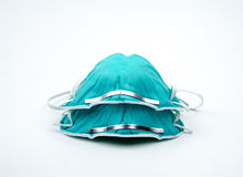 N-95 respirators. In front of white backgroud Royalty Free Stock Photos