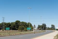 N8-road in Kwaggafontein in Bloemfontein Lizenzfreies Stockfoto