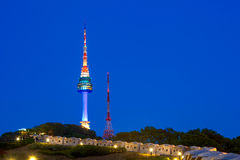 N Seoul Tower Located on Namsan Mountain in central Seoul, Korea. Stock Images