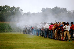 N-SSA Shooter. North South Skirmish Association Royalty Free Stock Image