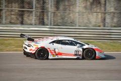 ¡ N Super-Trofeo 2016 Lamborghinis Huracà in Monza Lizenzfreie Stockfotografie