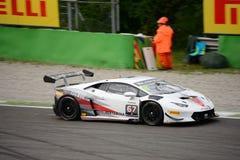 ¡ N Super-Trofeo Lamborghinis Huracà Rennen in Monza Lizenzfreie Stockfotografie
