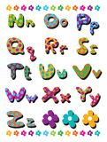 N to Z polka dots alphabets Royalty Free Stock Image
