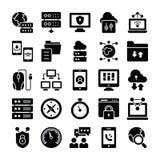 N?tverks- och kommunikationssymboler vektor illustrationer