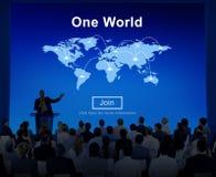 Één van de de Verbindingsverhouding van de Wereldvrede de Interconnectieconcept Stock Foto