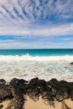 ??n van de mooiste en hoogst geschatte stranden in de wereld - Wailea-Strand, Maui, Hawa?, de V.S. stock fotografie