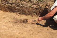 Één van de stadia van uitgraving Stock Foto