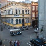 Één van de straten in historisch centrum van stad Stock Foto